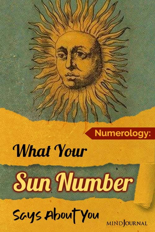 Numerology What Sun Number Says About You pin