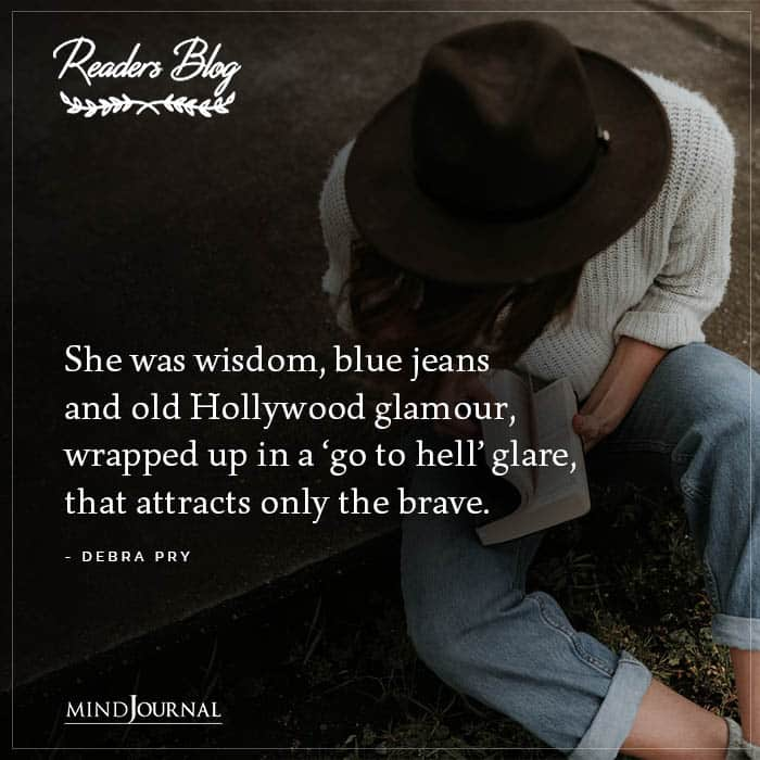 She Was Wisdom Blue Jeans And Old Hollywood Glamour