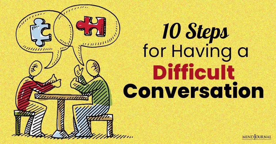 Steps Having Difficult Conversation