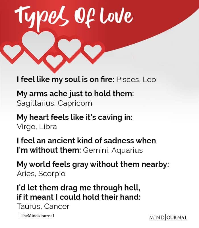 The Type Of Love Each Zodiac Sign Feels