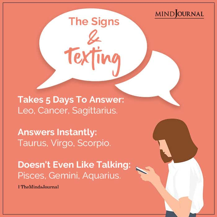 The Zodiac Signs And Texting