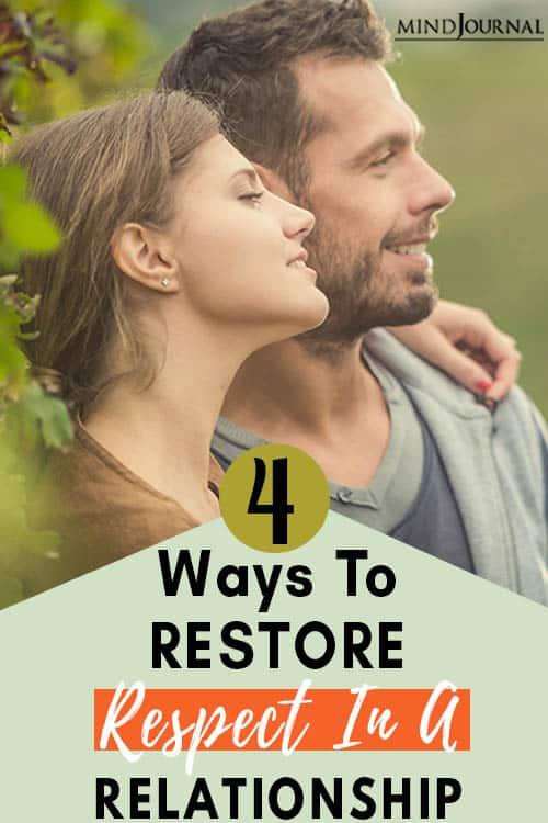 Ways Restore Respect Relationship Pin