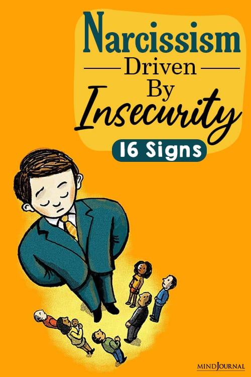 narcissism driven by insecurity sign pin