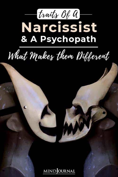 traits of a narcissist and a psychopath pin
