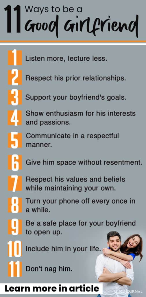 ways to be good gf infographic