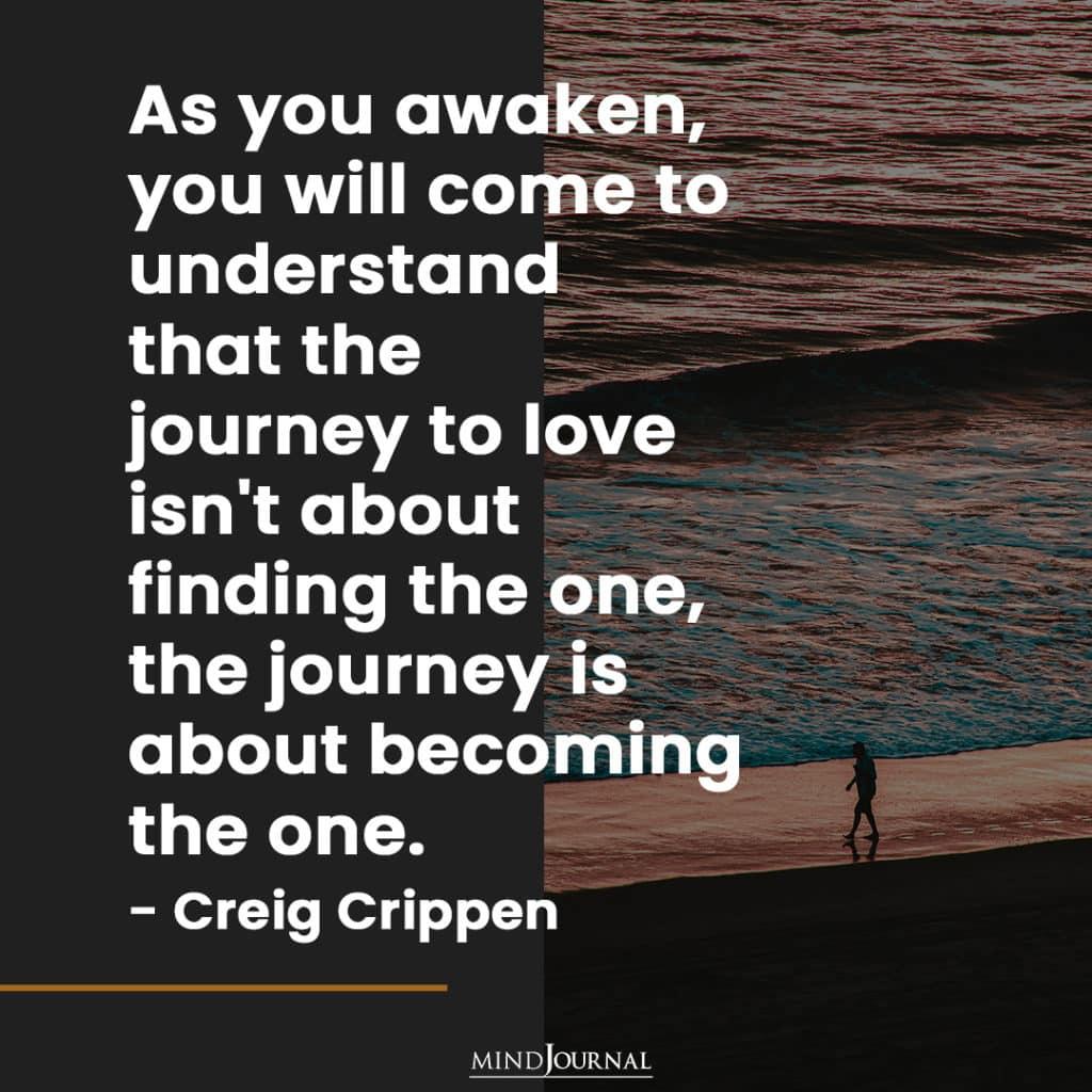 As you awaken.