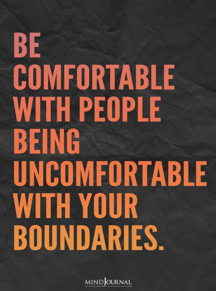 Be comfortable with people.