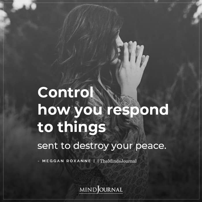control your response to negative energy