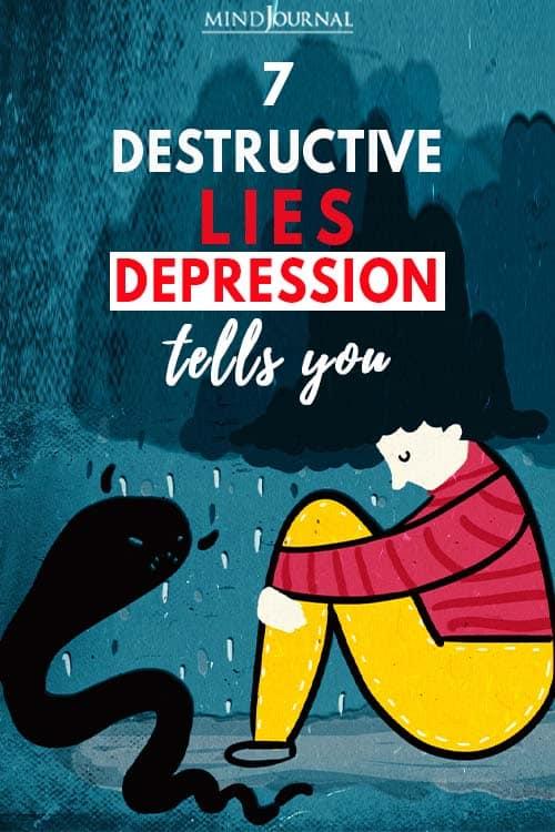Destructive Lies Depression Tells You pin