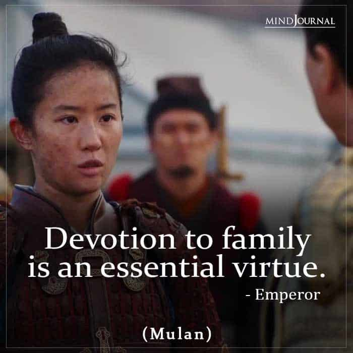 Devotion to family is an essential virtue.