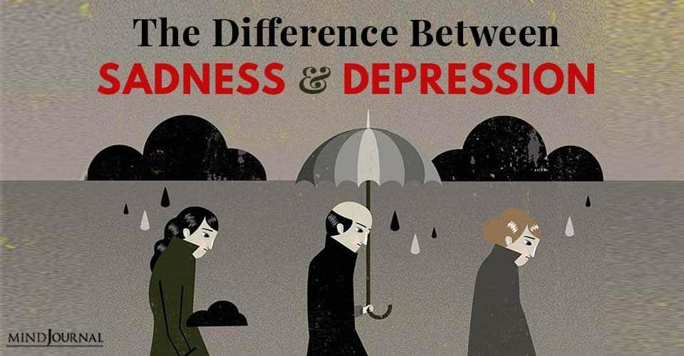 Difference Sadness Depression