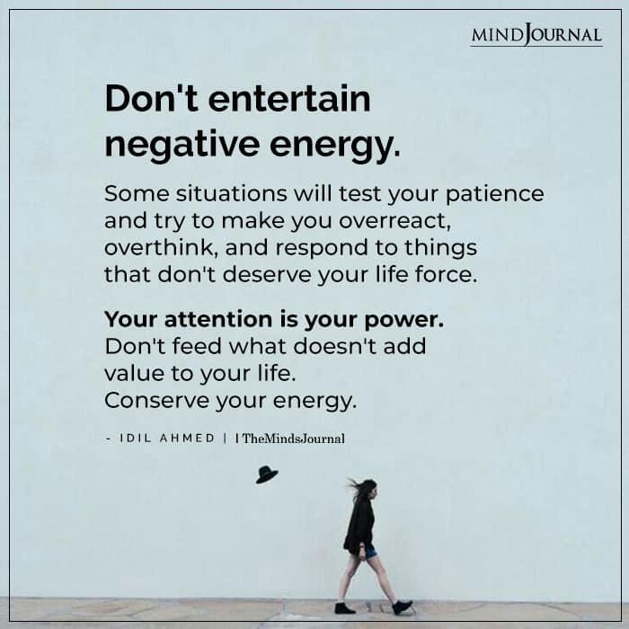 negative energies at work