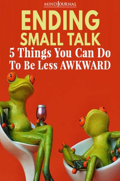 Ending Small Talk Pin