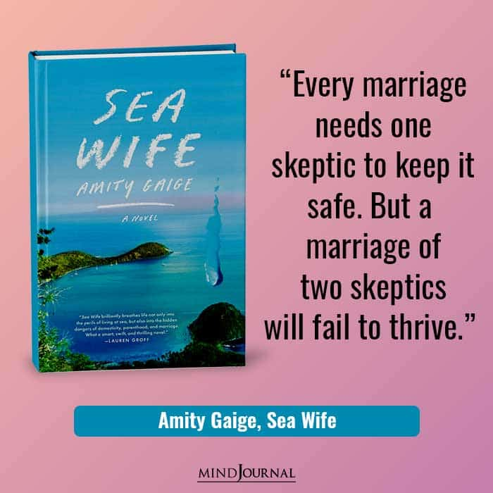 Every marriage needs one skeptic