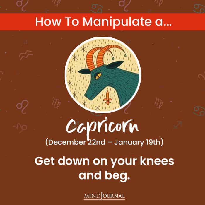 How To Manipulate capricon