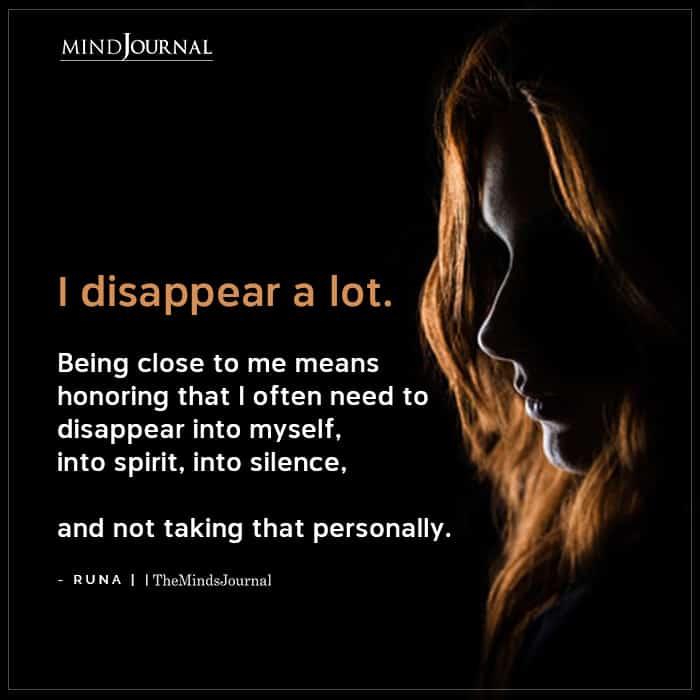 I Disappear A Lot