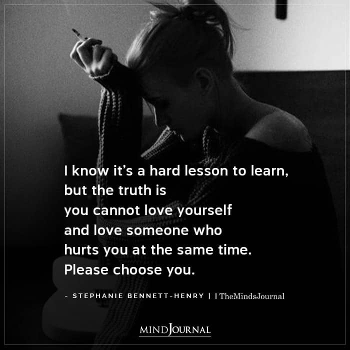 I Know Its A Hard Lesson To Learn