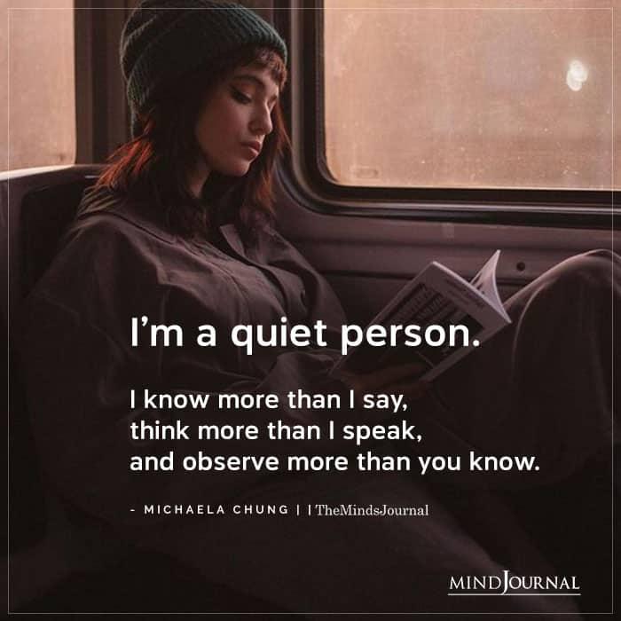 Im A Quiet Person