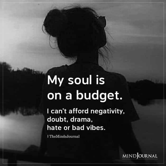 My Soul Is On A Budget