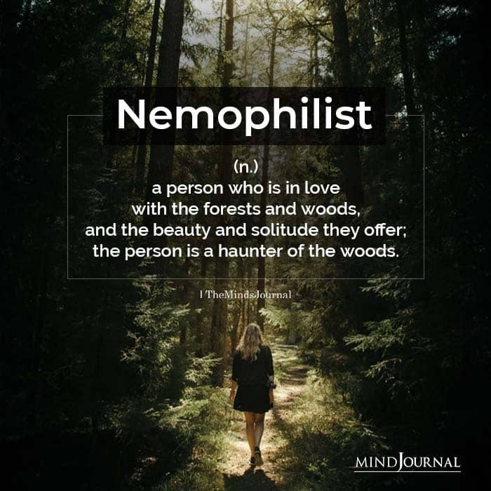Nemophilist a person who is in love