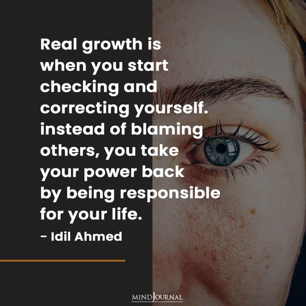 Real Growth Is When You Start Checking.