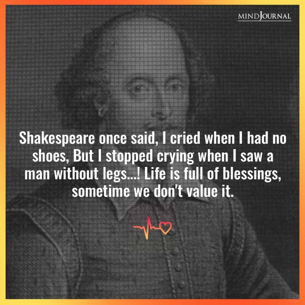 Shakespeare once said