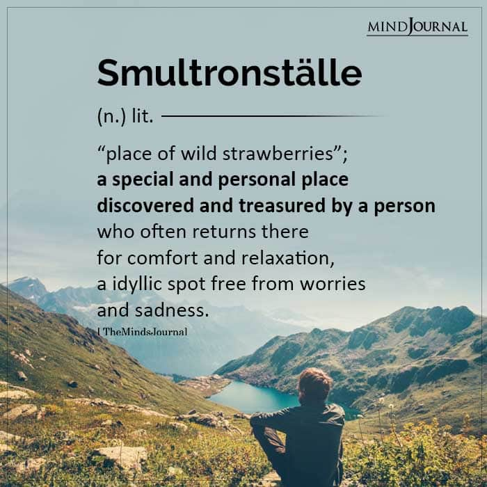 Smultronstalle place of wild strawberries