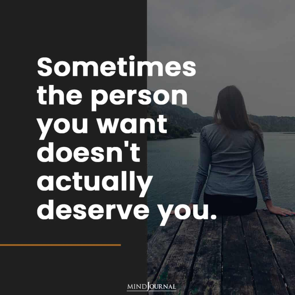 Sometimes the person you want.
