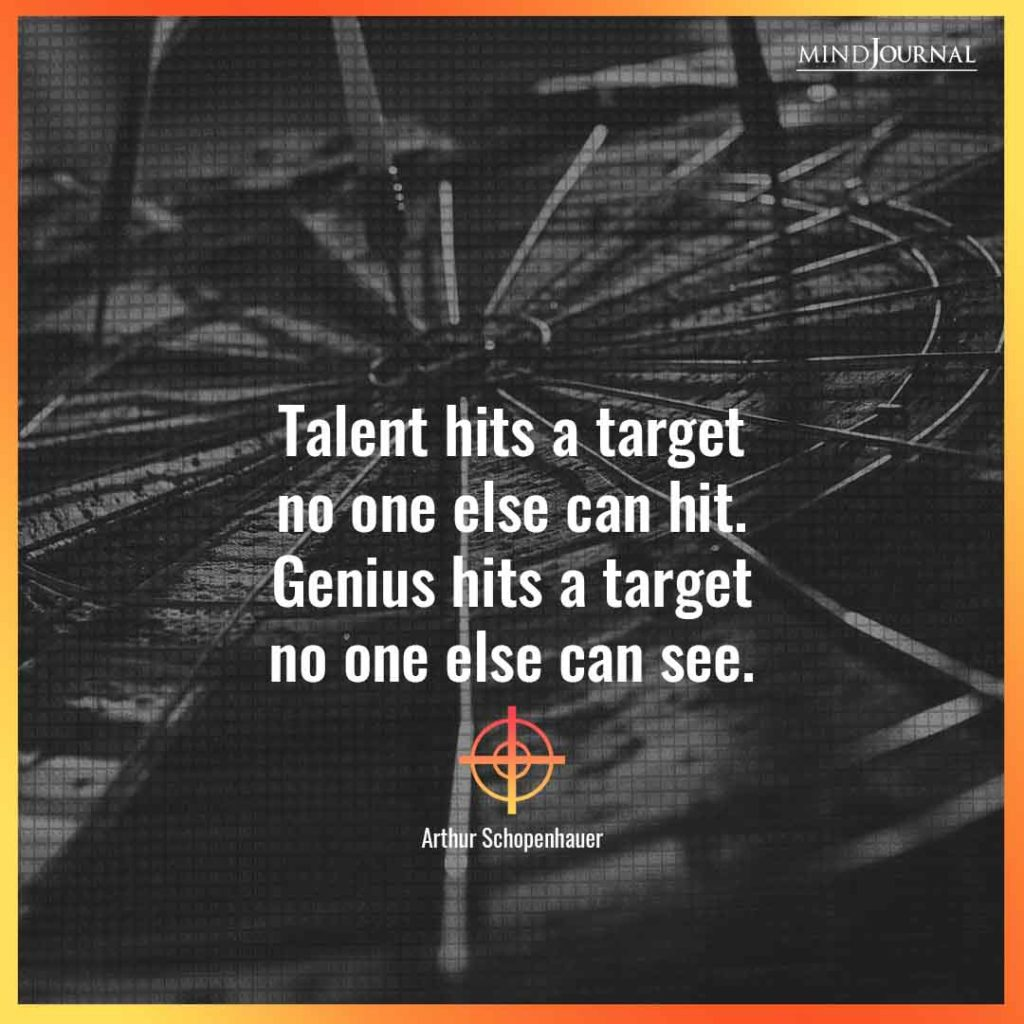 Talent hits a target
