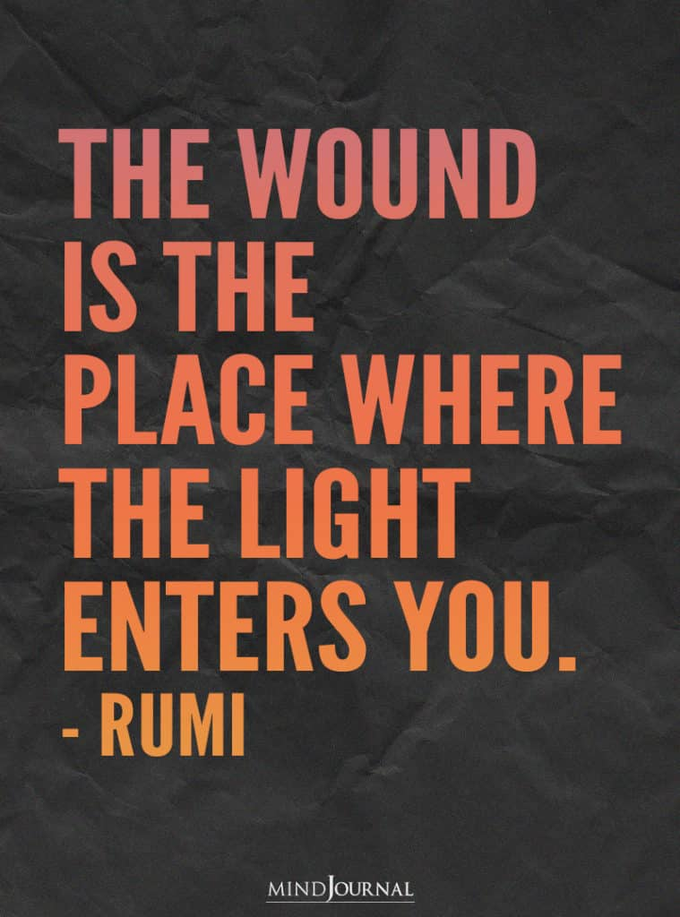 The wound is the place.