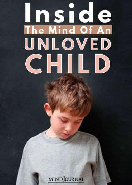 Unloved child kid pin