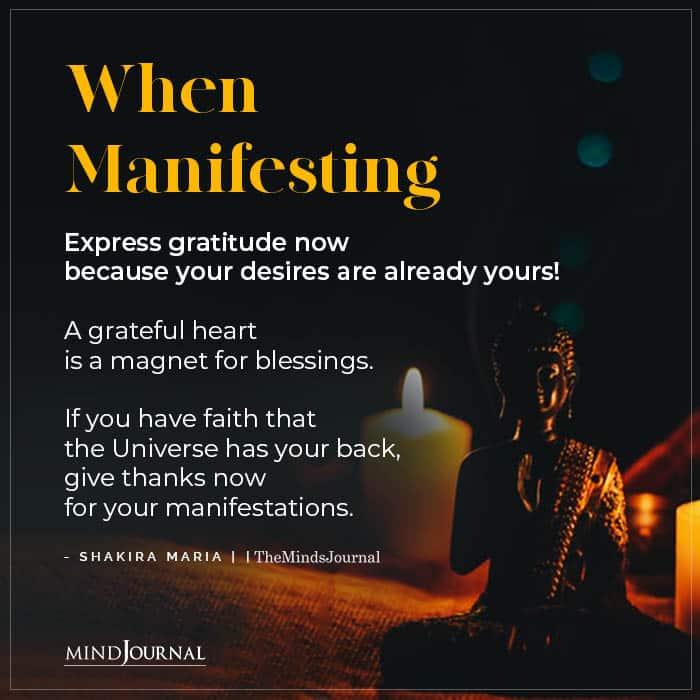 When Manifesting Express Gratitude Now