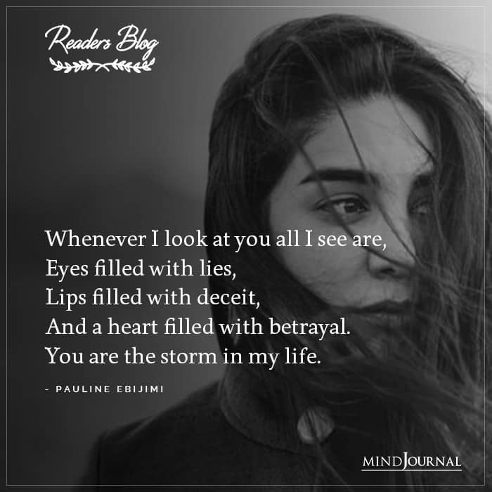 You Are The Storm In My Life