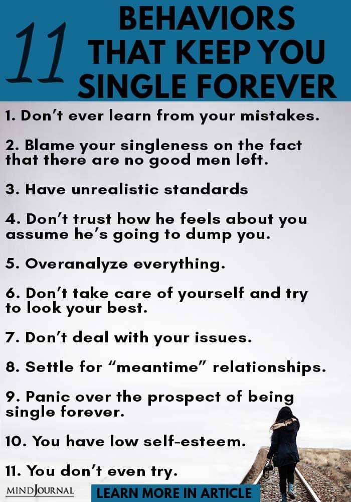 behavior keep single forever infographic