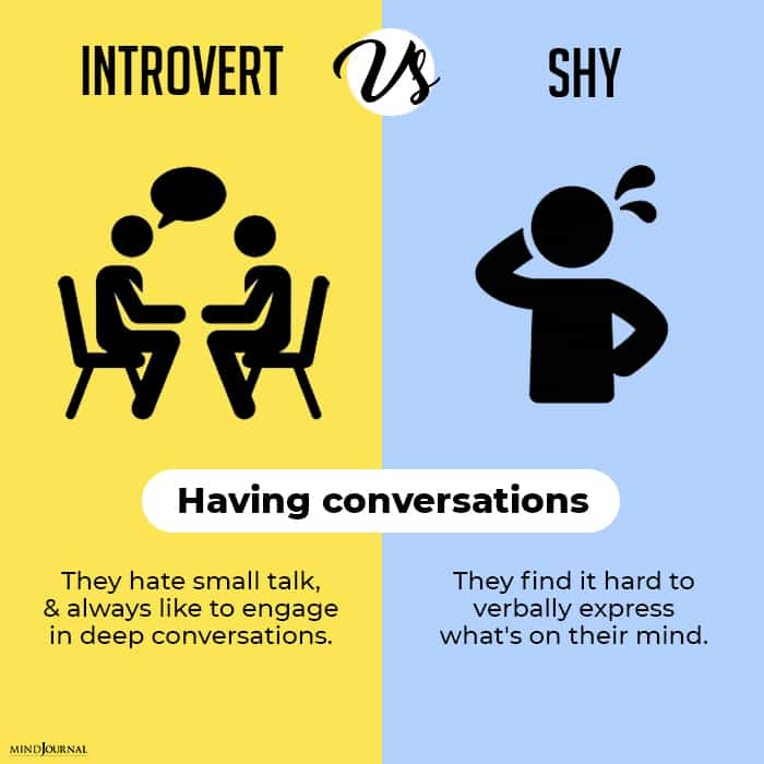 Being Introverted Being Shy Not Same conversations having