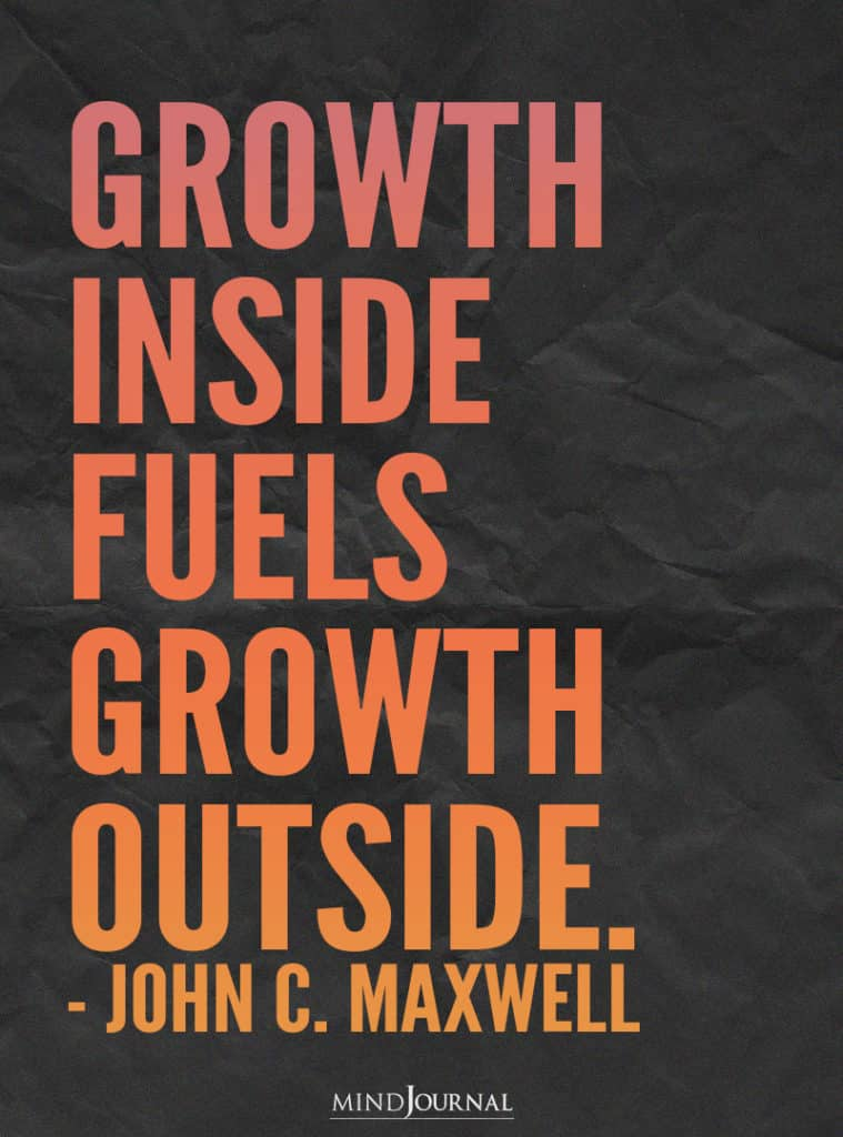 Growth inside fuels growth outside.