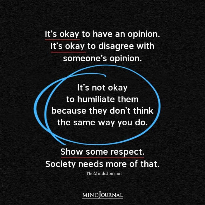 Its Okay To Have An Opinion
