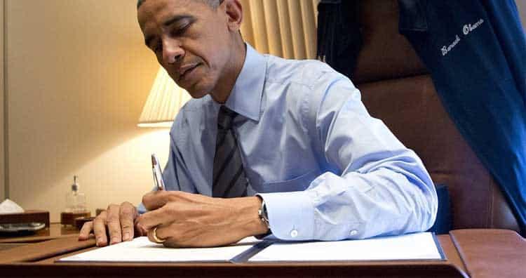 Obama - left handed