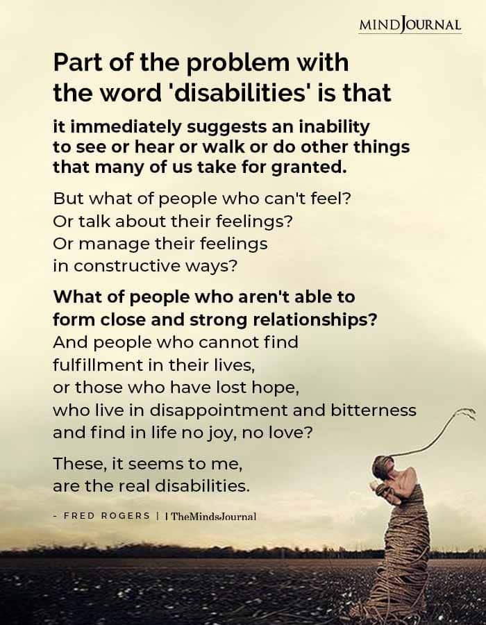 Part Of The Problem With The Word Disabilities