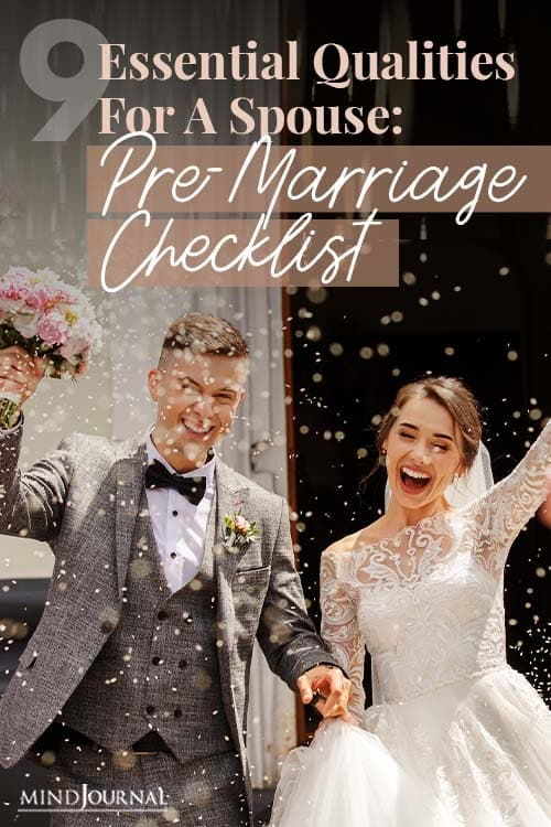 Qualities Spouse PreMarriage Checklist Pin