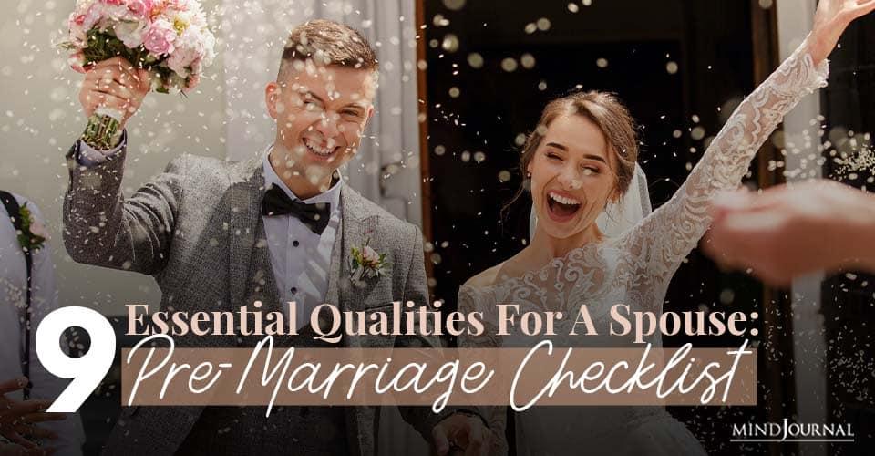 Qualities Spouse PreMarriage Checklist