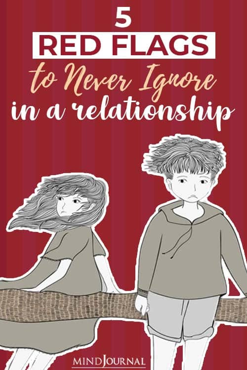 Red Flags Never Ignore Healthy Relationship pin