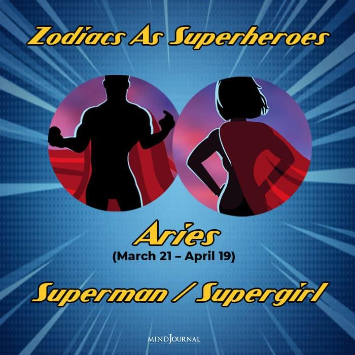 Zodiac Signs As Superhero aires