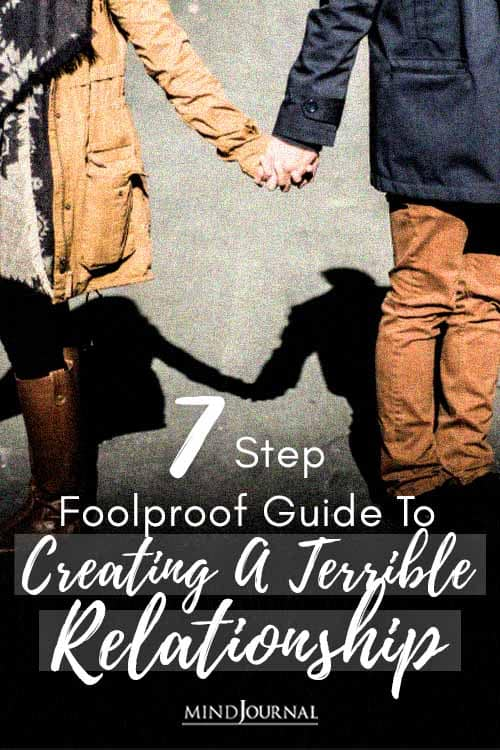 Step Foolproof Guide Creating Terrible Relationship Pin