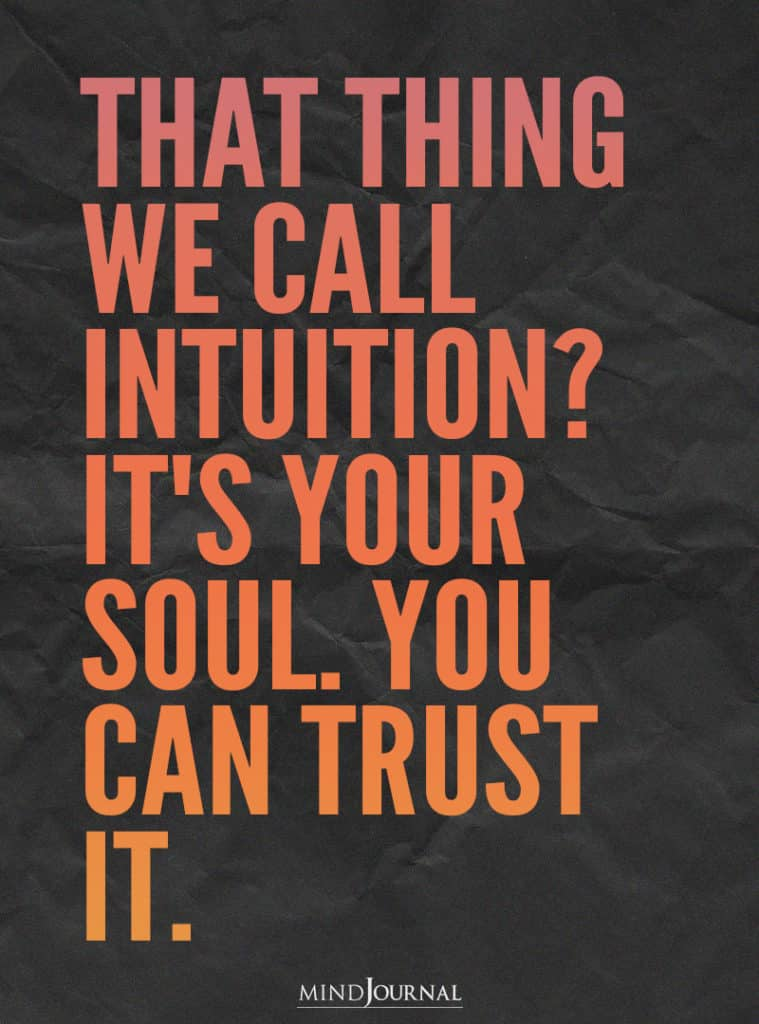That thing we call intuition