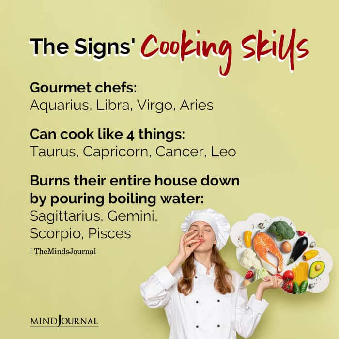The Zodiac Signs Cooking Skills
