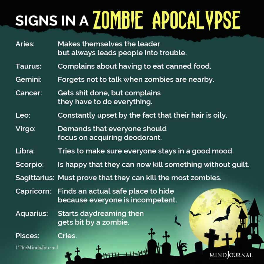 The Zodiac Signs In A Zombie Apocalypse
