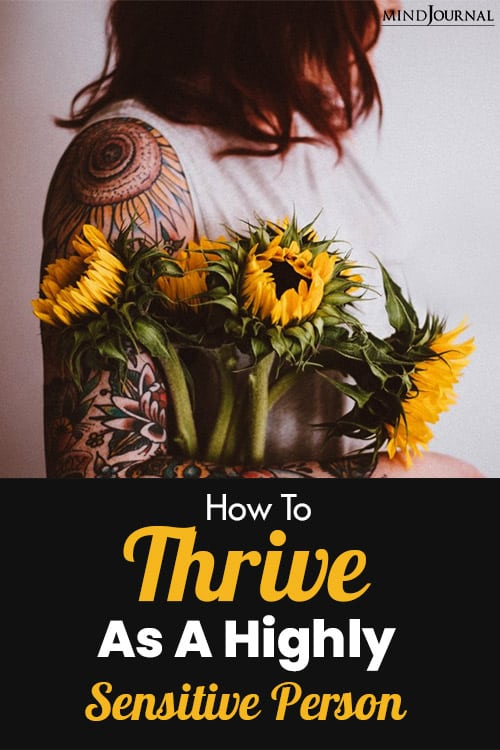 Thrive As Highly Sensitive Person pin