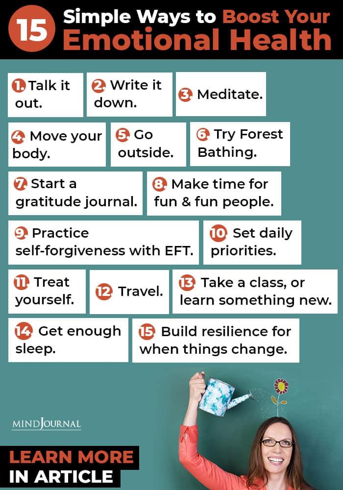 Ways Boost Emotional Health infographics