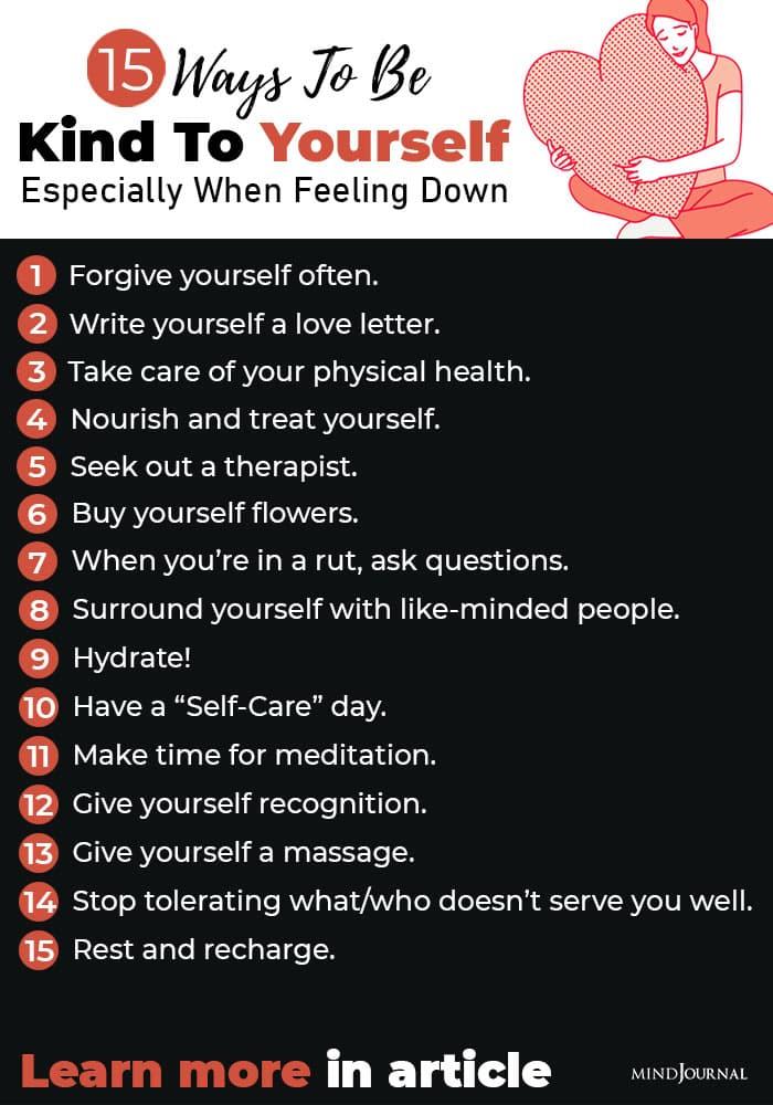 Ways Kind To Yourself infographics